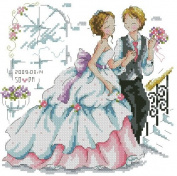 14 Counted Aida Cross Stitch Wedding Love Couple Kit Kx021