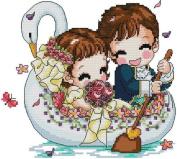 14 Counted Aida Kids Cross Stitch Wedding Baby Kit Kk110
