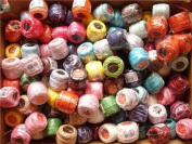 Free Ship Lot 6 Balls Size 8 Perle/pearl Cotton Threads for Crochet, Hardanger, Cross Stitch, Needlepoint Hand Embroidery