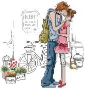 14 Counted Aida Kids Cross Stitch Love Couple Children Kit Kq028