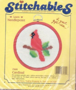 Cardinal - 10cm Hoop Frame Included - Stitchables Needlepoint Kit #7569