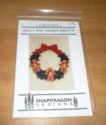 Christmas Holly And Ginger Wreath Pattern