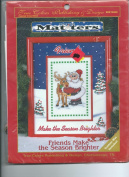 Friends Make the Season Brighter--Counted Cross Stitch Kit
