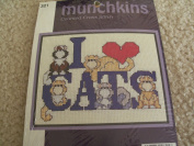 Munchkins-I Love Cats-Counted Cross Stitch Kit