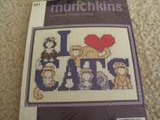 Munchkins-I Love Cats-Counted Cross Stitch Kit