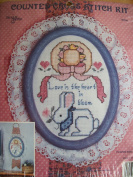 Love Is the Heart in Bloom-Counted Cross Stitch Kit