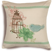 Dimensions Needlecrafts Handmade Embroidery, Birdcage Pillow
