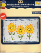 """Smiling Sunflowers"" Needlepoint Canvas Collection"