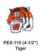 10cm - 1.3cm Embroidered Animal Patch Tiger