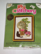 JIFFY STITCHERY - 1977 VINTAGE - RATTAN WITH AZALEAS KIT NO. 368