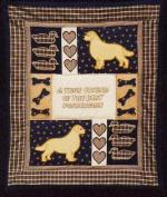 Pegasus Originals Golden Retriever Quilt Applique Pattern