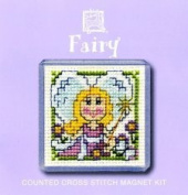 Textile Heritage Magnet Counted Cross Stitch Kit - Fairy