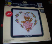 """Bear with Hearts"" Needlepoint Canvas Collection"