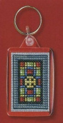Textile Heritage Keyring Counted Cross Stitch Kit - Stained Glass Window