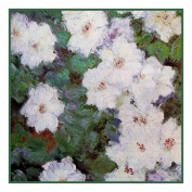 Clematis Vine detail inspired by Claude Monet's impressionist painter Counted Cross Stitch Chart