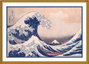 Counted Cross Stitch Chart The Great Wave Off Kanagawa by Japanese artist Katsushika Hokusai