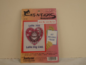 "JANLYNN ""CAT-A-TUDES"" COUNTED CROSS STITCH KIT ""LOVE ME LOVE MY CAT"""