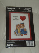 "Janlynn Suzy's Zoo ""Friends Are Precious"" Counted Cross Stitch Kit--13cm X 18cm"