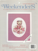 Weekenders Counted Cross Stitch Kit, Ballerina Bear, Mat Included