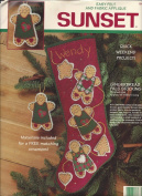 Sunset Felt and Fabric Applique Gingerbread Pals Christmas Stocking and Ornament