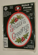 Seasons Greetings #3381 Stitch 'N Frame Counted Cross Stitch Kit