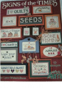 SIGNS OF THE TIMES BY LYNN WATERS BUSA 13 CROSS STITCH DESIGNS FROM GRAPH-IT ARTS