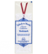 Stitch-A-Mark Bookmark - White