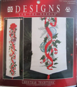 Ornaments Bell Pull, Christmas Banner, Counted Cross Stitch Kit