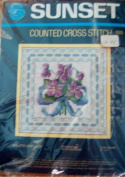 Sunset Counted Cross Stitch Kit Violets and Lace #925