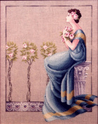Damask Roses - Cross Stitch Pattern