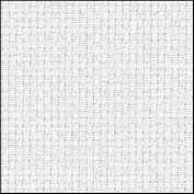 Zweigart 16Ct Aida-46cm X 50cm Needlework Fabric - White
