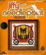Lion Circus Car Sunset Jiffy Needlepoint Kit #5572