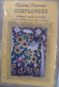 Sunflowers - Cutwork Vest Pattern - Sizes S-M-L-XL - Patterns and Instructions