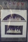 Snowmen Family - Applique Quilt Patterns & Instructions #401