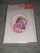 Vintage Creative SEA SHELL Needlepoint 10cm x 15cm Card w/ Envelope