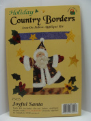 Holiday Country Borders Iron-On - Joyful Santa