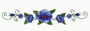 Blue Rose Pillowcases - 2 standard size (50cm x 80cm ) Stamped Embroidery Kit