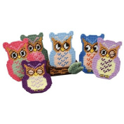 Owl Coasters with Holder Plastic Canvas Kit
