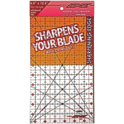 The Cutting EDGE Clear Ruler 10cm - 1.3cm X 20cm - 1.3cm - Sharpens Your Blade with Every Cut
