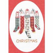 Derwentwater Designs Christmas Stockings Card Cross Stitch Kit