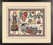 Rustic Angels Stamped Cross Stitch Kit Designed by Brian Jackins