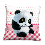 Lovely panda 3D Stamped Cross Stitch Kit Cushion Cover- 45cm By 45cm