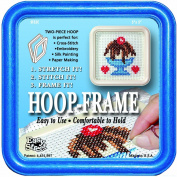 "Easy Street Crafts ""Square"" Embroidery Hoop-Frame, 13cm by 13cm , Blue"