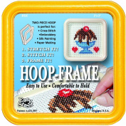 Easy Street Crafts Square Embroidery Hoop-Frame, 13cm by 13cm , Yellow