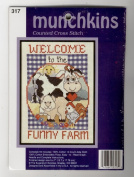 Munchkins Whimsical Welcome to the Funny Farm Counted Cross Stitch Kit
