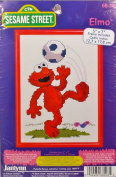 Janlynn Sesame Street Elmo Soccer Counted Cross Stitch Kit 68-18