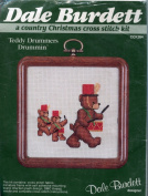 Dale Burdett Teddy Drummers Drummin' ~ A Country Christmas Cross Stitch Kit