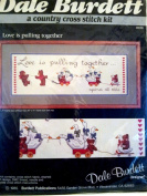Dale Burdett, A Cross Stitch Kit - Love Is Pulling Together...Against All Odds
