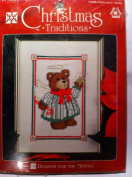 Designs for the Needle Christmas Star Bear 13cm X 18cm Counted Cross Stitch Kit