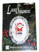 Designs for the Needle Lace Ornament 1230 Santa & Rudolph Counted Cross Stitch Kit